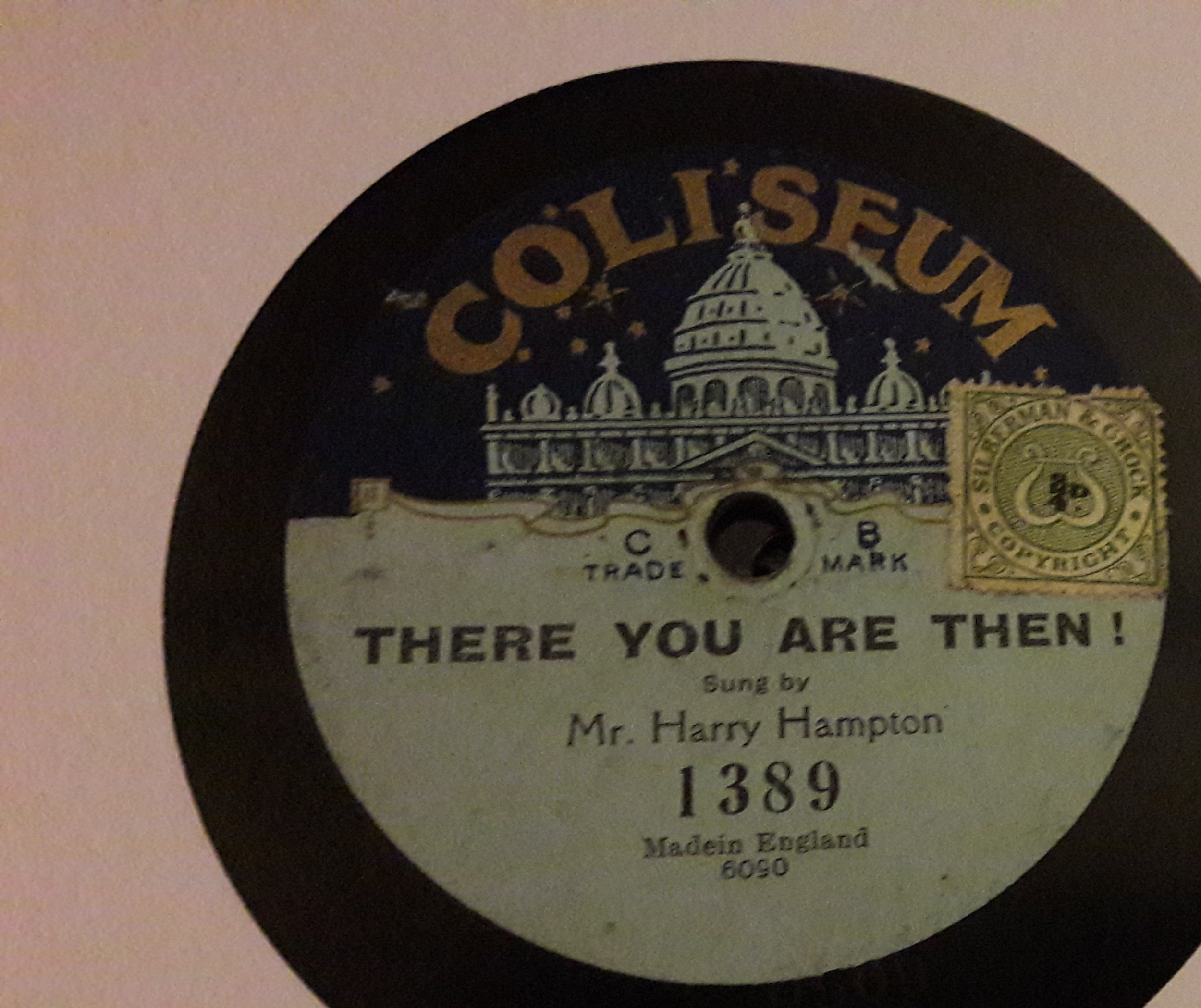 Harry Hampton - If you're going back to Dixie - Coliseum 1389
